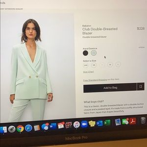 Babaton double breasted mint blazer